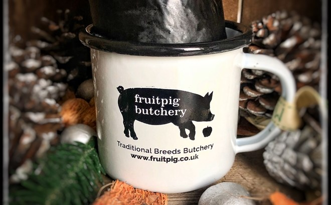 Fruit Pig Retro Tin Mug