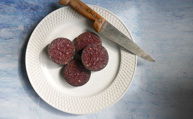 Sliced Fresh Blood Black Pudding Pack